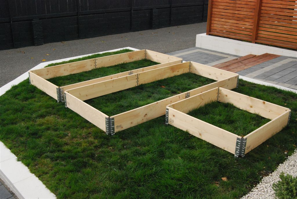 Raised garden beds modular stackable planter boxes usa for Making raised garden beds